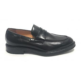 Moccassus Man Ancient Leather Shop Mod. Dalton Leather Black Color U20ac02