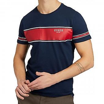 Arvaa Paneeli Logo Crew Neck Navy T-paita M1RI56K8HM0