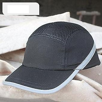 Fashion Sunscreen Cap Work Safety Helmet Breathable Mesh Anti-impact Light