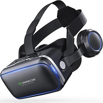 "For shinecon 6.0 3d cardboard helmet virtual reality vr glasses headset stereo vr glasses for 4.5-6.5"" mobile phone video game"