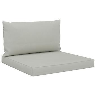 vidaXL pallet divano pad 2 pcs. tessuto beige