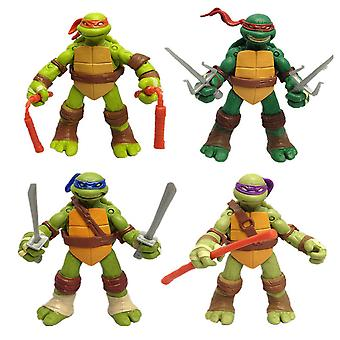 4szt / lot Ninja Turtle Figure Toy Raphael Ruchomy model ków