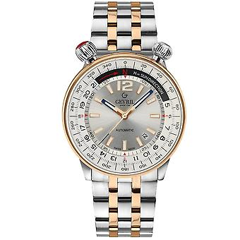 Gevril Wallabout Automatic Silver Dial Men's Watch 48563