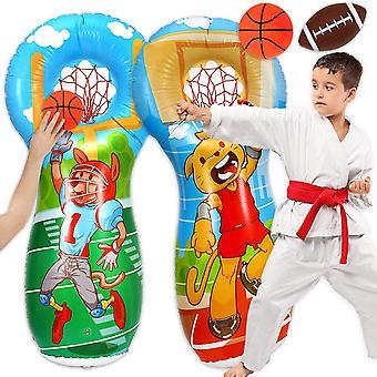 ZaxiDeel Inflatable Punching Bag 140cm - Premium Bop Bag/Toss Target Game, Double-Sided Premium Bop