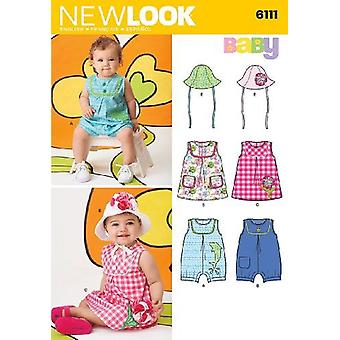 New Look Sewing Pattern 6111 Babies Dresses Sewing Pattern Size NB-L