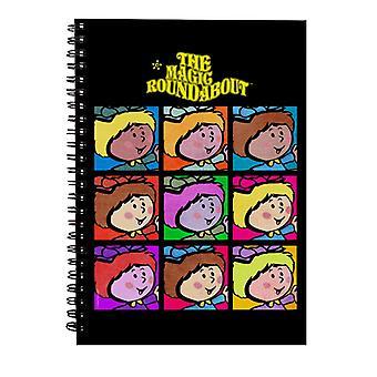 The Magic Roundabout Florence Pop Art Spiral Notebook