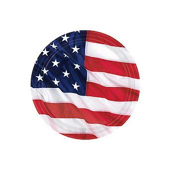 8 Petites assiettes drapeau américain 18 cm