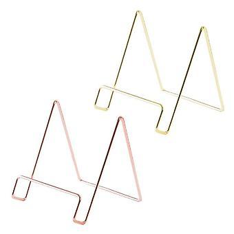Kreative geometrische Aufbewahrung Rack einfache Schmiedeeisen Organizer Tablet