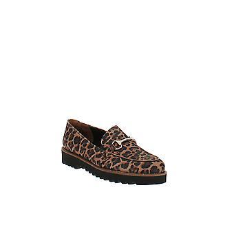 Paul Green | Nandi Leopard Print Platform Loafers