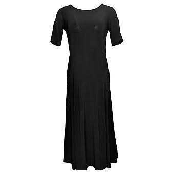 Nina Leonard Dress Nicole Belted Midi With Godet Detail Black 685869