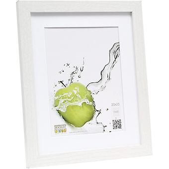 FengChun Basic Bilderrahmen, Holz/MDF, mit Passepartout, Wei, wei, 20 x 25 cm