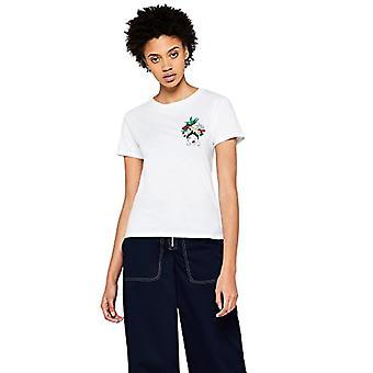 Amazon brand - find. Women's Crew neck T-shirt, White, 44, Label: M