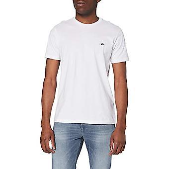Lee Patch Logo Tee T-Shirt, White, M/Tall Men