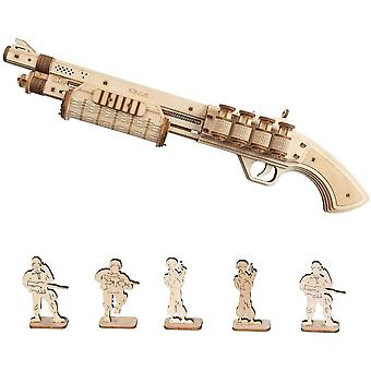FengChun TERMINATOR M870 Holz Pistole Kit - mechanische Gebäude Modell Kit 3D Holz Puzzle für Kinder 14