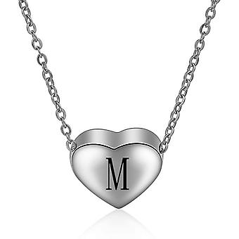 Sterling Silver Initial Necklace Letter M