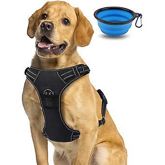 Hundegeschirr No-Pull atmungsaktiv Brustgeschirr für Hunde, 3M Reflektierender Leichter