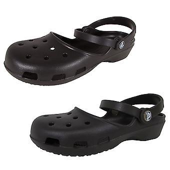 Crocs Womens Karin Clog Slip On Mary Jane Shoes