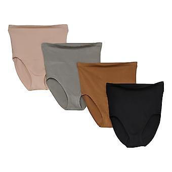 Rhonda Shear Panties 4-pack Seamless High-Waist Ahh Brief Beige 700696