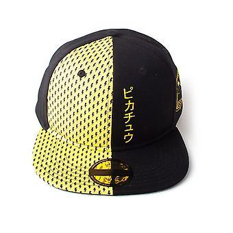 פוקימון - בלוק פיקאצ'ו יוניסקס סנאפבק כובע בייסבול - שחור / צהוב