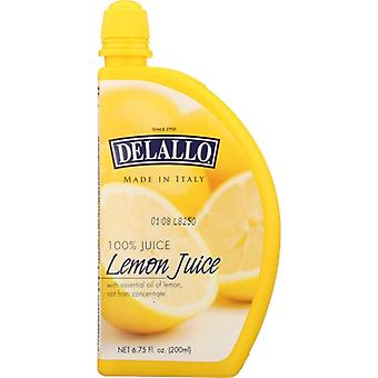 Delallo Juice Lemon, Case of 12 X 6.75 Oz