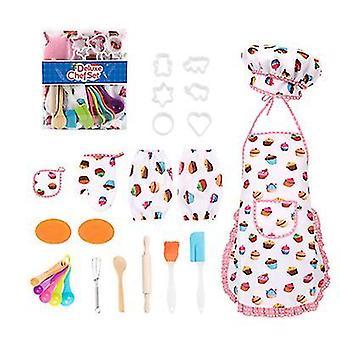 20-piece children's cooking set, kitchen baking pretend toy set