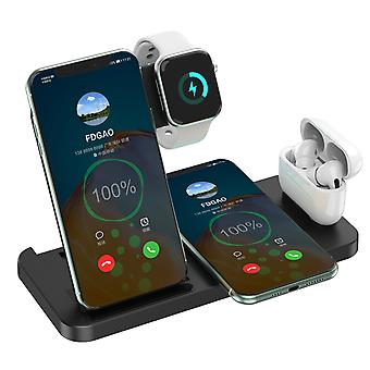 4 In 1 15w Wireless Charger Station For Apple Iphone And Iwatch