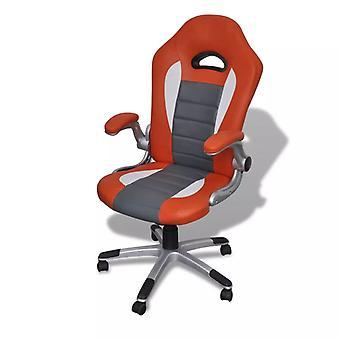 Fauteuil de bureau Chaise de bureau Chaise pivotante Fauteuil de chef En faux-mâché Office Orange