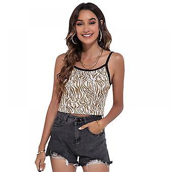 Lohill Mujer Strappy Blusa Tops Camisetas Damas Estampado Tanque Cami Jersey Túnica
