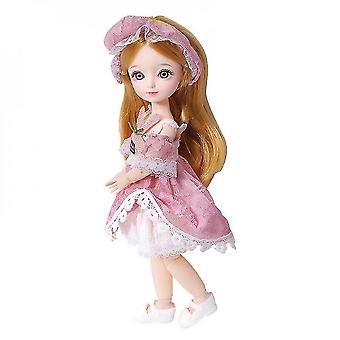 31cm Barbie Doll,dress Up Princess With Full Set Clothes Shoes,gift For Girls
