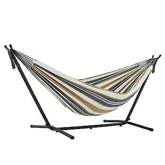 Cotton Hammock With Steel Stand For 2 Person