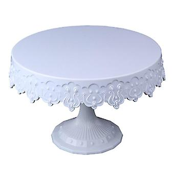 Elegant Lace Wedding Party Cake Stand Turntable Plate Fruit Pan Cupcake  Decor|Dishes & Plates