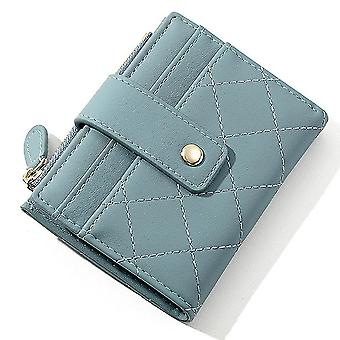 Ultra-thin multi-card slot pu card holder simple short ladies coin purse(Color-2)