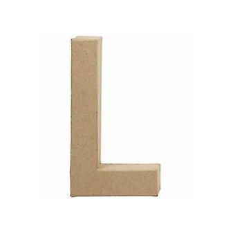 20,5 cm grote papier mache letter L | Papier Mache-vormen