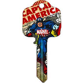Marvel Comics Dør Nøkkel Captain America Offisielt Lisensiert Produkt