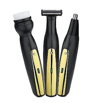 3 em 1 cortador de barba portátil limpador de rosto