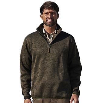 Champion Mens Banff Marl Lightweight Quarter Zip Fleece Coat M Olive