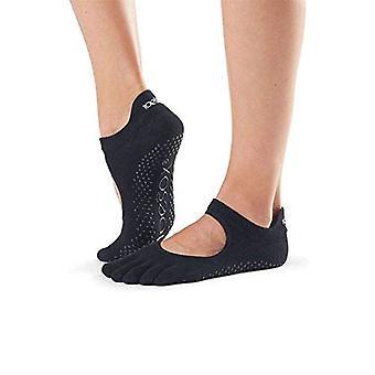 ToeSox Full Toe Bella Bellarina Grip Socks For Barre Pilates Yoga Dance - Black