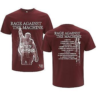 Rage Against The Machine - BOLA Pochette de l'album Unisexe Grand T-Shirt - Rouge