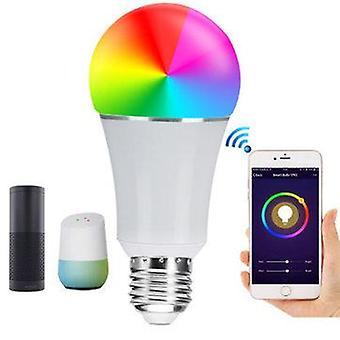 E27 7w smd5050 600lm rgbw wifi app control led smart light bulb for alexa google home ac85-265v