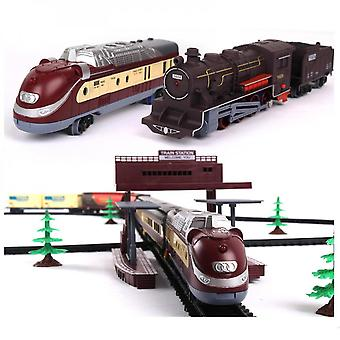 Mimigo Electric Train Set For Kids, Battery-powered Train Toys With Sounds Include 7 Cars And 40 Tracks, Classic Toy Train Set Gifts For 3 4 5 6 Years