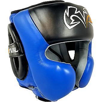 Rivaal boksen RHG30 Mexicaanse stijl Wang Protector opleiding hoofddeksels - zwart/blauw