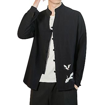 מייל גברים קימונו קרדיגן מעיל יפני בסגנון וינטג 'ז'קט צמרות בכושר רגיל