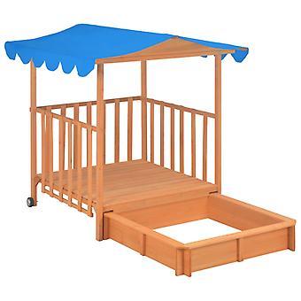 Kids Playhouse avec bac à sable en bois de sapin