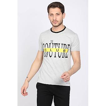 Menns Gray Couture Crew Neck T-skjorte