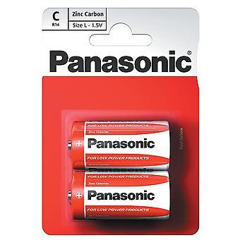 Batteria Panasonic C dimensione (R14RZ-2BP) - confezione da 12