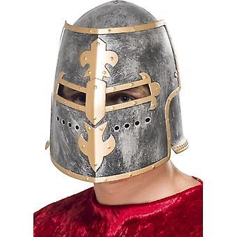 קסדת אביר קסדה צלבנית לתחפושת של הלוחם בימי הביניים