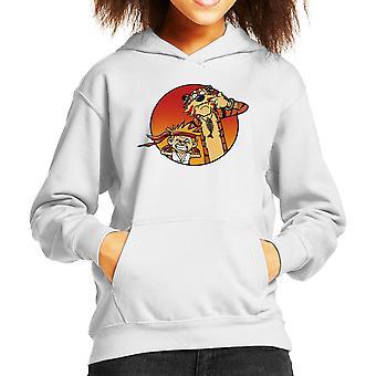 Street Pals Street Fighter Calvin And Hobbes Kid's Hooded Sweatshirt