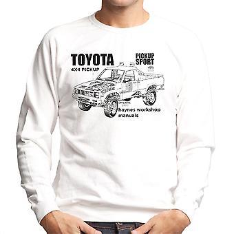 Haynes Workshop Manual Toyota Sport 4x4 Black Men's Sweatshirt