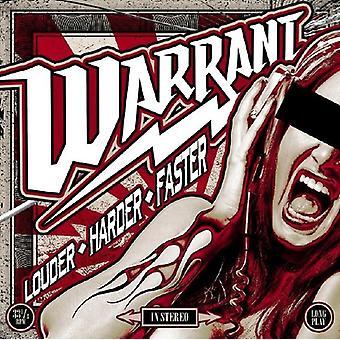 Warrant - Louder Harder Faster [Vinyl] USA import
