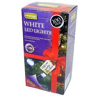 Martim-pescador 100 LED branco árvore de Natal interior e exterior grinalda (rede)